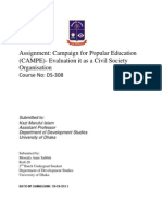 Evaluation of CAMPE as a Civil Society Organization