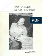 Hans Adler Memorial Volume
