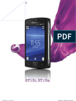 Sony Ericsson Xperia mini T15i, ST15a - White paper