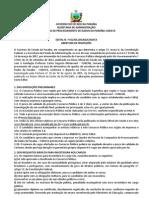 Edital CODATA PB 2013