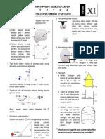 Ulangan Harian I Fisika Kelas XI IPA Semester Genap TP. 2011-2012 (Dinamika Rotasi + Titik Berat)