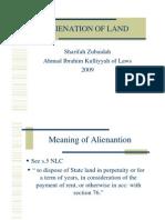 <LAND LAW I> Alienation of Land