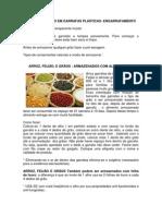 Armazenar alimentos em Garrafas Plásticas (PET)