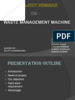 Waste Managment Machine