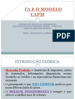 4a. Aula o Beta e o Modelo Capm Epn 2012