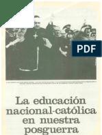Catecismo y educación pos-guerra