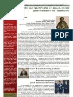 Academie Inscriptions Belles Lettres Bulletin Information 112