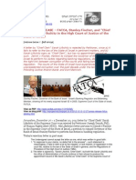 """12-12-27 PRESS RELEASE – FATCA, Stanley Fischer, and """"Chief Clerk"""" Sarah Lifschitz in the High Court of Justice of the State of Israel"""