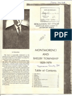 Montmorenci and Shelby Townships 1829-1979