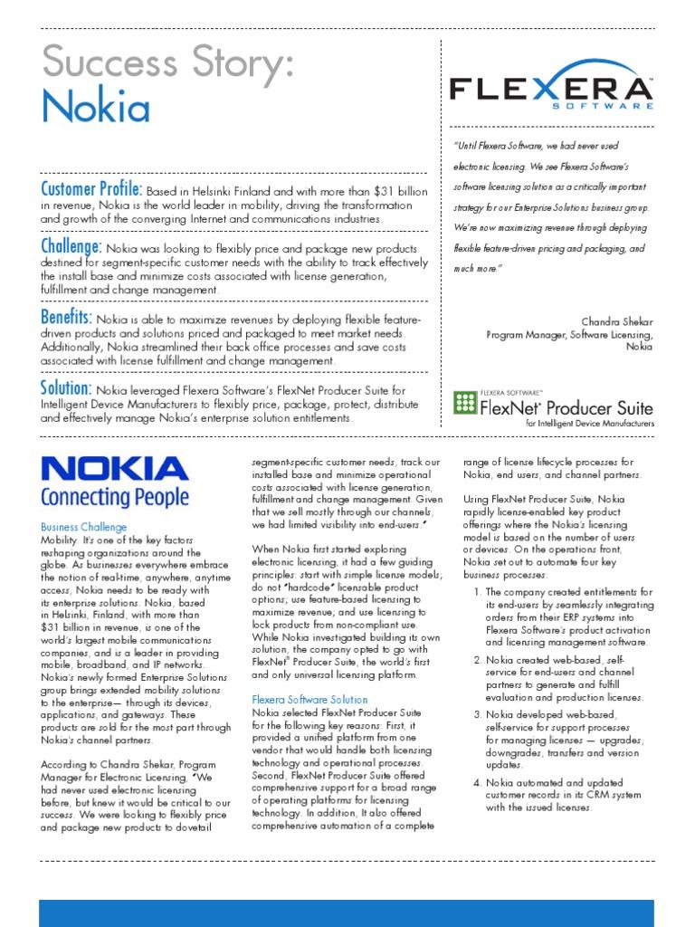 FlexNet Producer Suite Nokia Success Story | Nokia | Enterprise