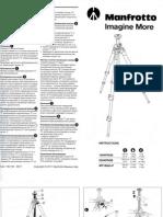 Manfroto 055XPROB Instructions Manual