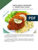 In jurul lumii in cautarea experientelor culinare - Snitelul vienez, Austria