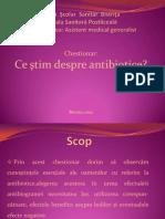 antibiotice chestionar