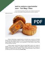 In jurul lumii in cautarea experientelor culinare - Yuè Bĭng, China