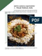 In jurul lumii in cautarea experientelor culinare - Murgh Makhani, India