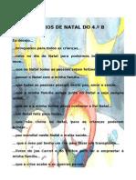 DESEJOS DE NATAL DO 4ºB