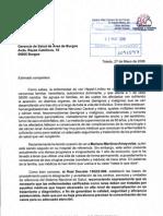 Carta a la Inspección Médica de Burgos - Mariano