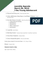 Assembly Agenda 12