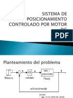 SISTEMA DE  POSICIONAMIENTO  CONTROLADO POR MOTOR DC