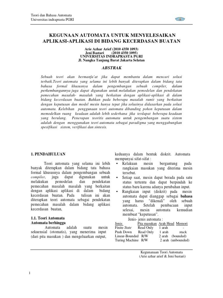 Tugas Jurnal Arie Azhar Arief & Jeni Bastari