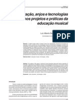 3. Inovação, anjos e tecnologias nos projetos e práticas da educação musical