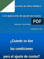 2.13 Aplicacion de Ajuste de Costos