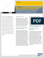 SAP® SOLUTION MANAGER ADAPTER FOR SAP QUALITY CENTER BY HP