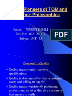 The Pioneers of TQM and their Philosophies