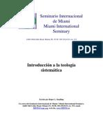 Introduccion a La Teologia Sistematica - Roger l. Smalling - Libro