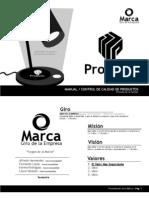 Manual y Control de Calidad Del Producto PREVIEW