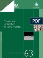 Membrane Distillation of Brine Wastes