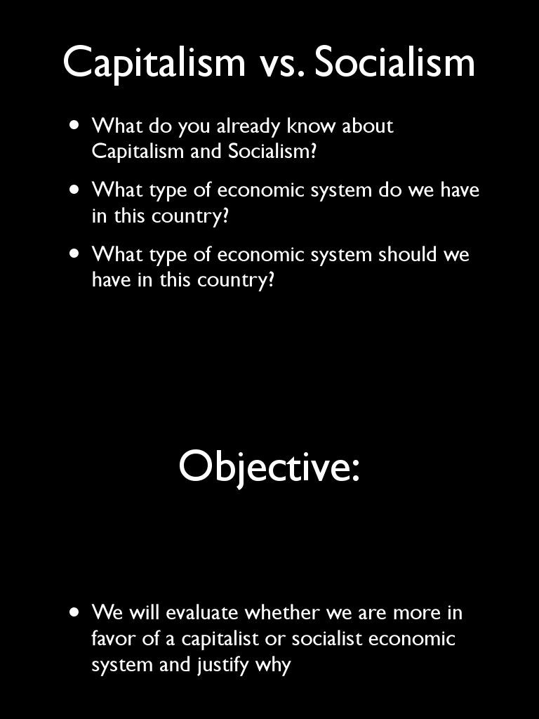 Capitalism Vs Socialism Capitalism Karl Marx