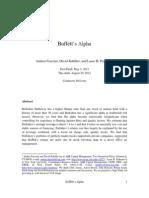 Buffett's Alpha