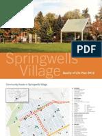 Springwells Quality Of Life Plan 2012