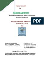 green marketing project