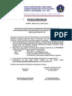 Pengumuman Susulan Hasil Utul & Uji Kes Siipenmaru D-III Tgl 28 Des 2012