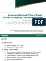 Anapharm-Designing Safe and Efficient Phase 1 Studies