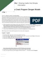 Bagaimana Cara Crack Program Dengan Mudah Bag 1 _ Just My Hobby