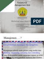 k3 Manajemengizi