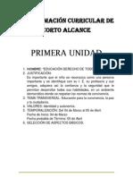 PROGRAMACIÓN CURRICULAR DE CORTO ALCANCE