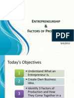 1. Entrepreneurship and Factors of Production