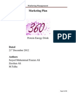 Marketing Plan (Sample) - 360 Energy Drink