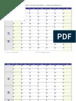 Calendário Word 2013 Semanal