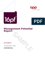 16pf Management Potential Report