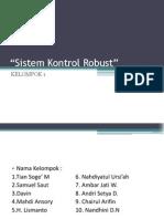 Kelompok 1- Sistem Kontrol Robust