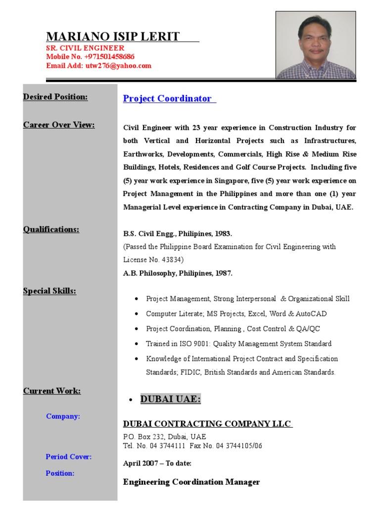 Project Coordinator | Project Management | Civil Engineering