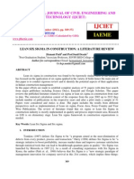 Lean Six Sigma in Construction a Literature Review