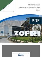 Reporte de Sostenibilidad Zofri 2011