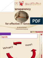 Transparency for Effective IT Governance