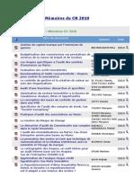 Mémoires CN 2010